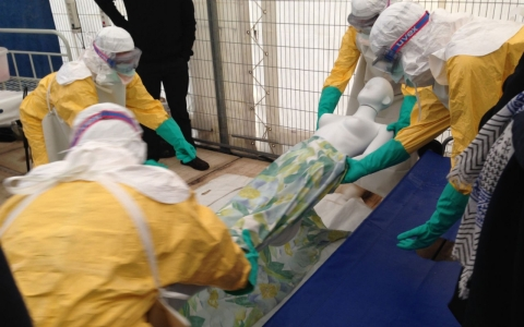 Thumbnail image for A dummy run for deadly work: Bridging the Ebola care gap