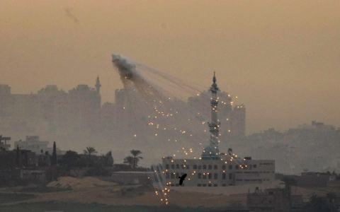 During its Operation 'Cast Lead' in 2009, Israel was accused of dropping white phosphorous bombs over civilian-populated areas, which if true, would amount to war crimes.