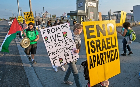 Thumbnail image for Seattle protesters aim to block Israeli cargo ship over Gaza siege