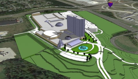 A rendering of the proposed casino in Newburgh.