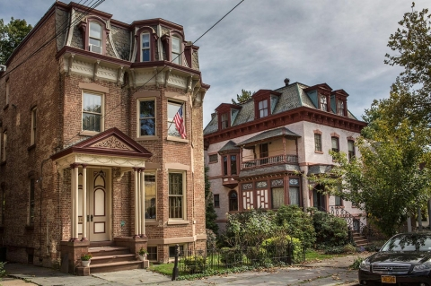 Many of Newburgh's Victorian homes are crumbling.
