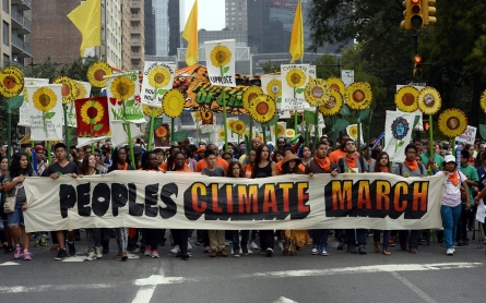 Protesters sound the climate alarm in global marches