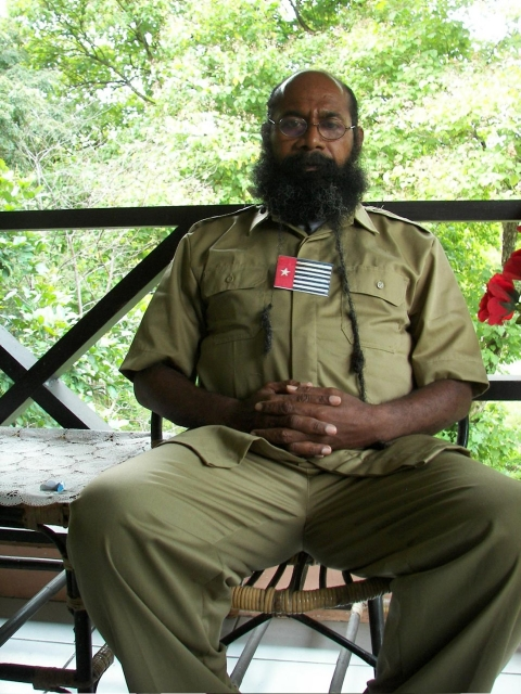 Filep Karma is serving a 15-year prison term for raising West Papua's Morning Star flag, which is banned by the central government.