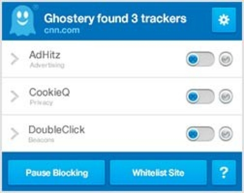 The Ghostery app.