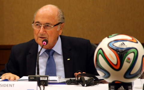 Thumbnail image for Soccer supremo Blatter returns to the public eye, but only on tape