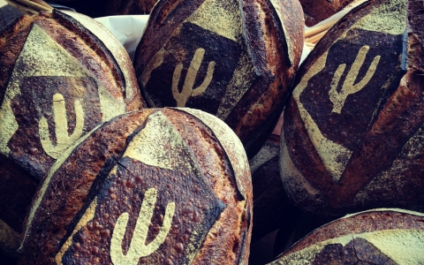 Tucson-based Barrio Bread Co. uses heirloom wheat to bake their signature Heritage Grain bread.