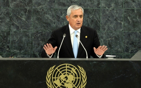 Thumbnail image for Guatemala president to UN: Reform global drug policy