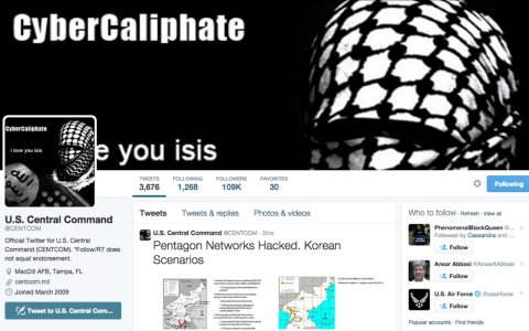 Thumbnail image for Key US military command's Twitter, YouTube accounts hacked