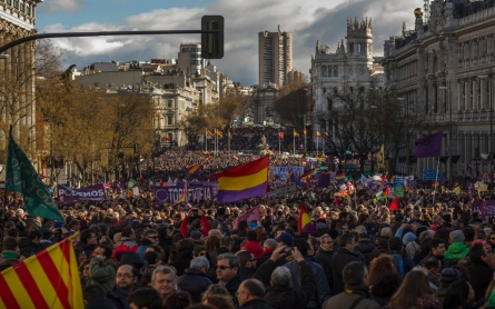 Huge Madrid march in support of anti-austerity party