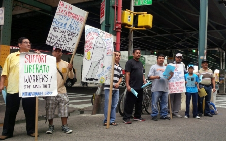 Workers alleging wage theft say picketing the surest path to justice