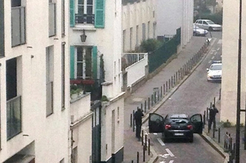 Thumbnail image for Manhunt on for gunmen who killed at least 12 at satirical Paris magazine