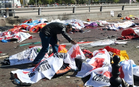 Thumbnail image for Fatal blasts rock Turkey peace rally