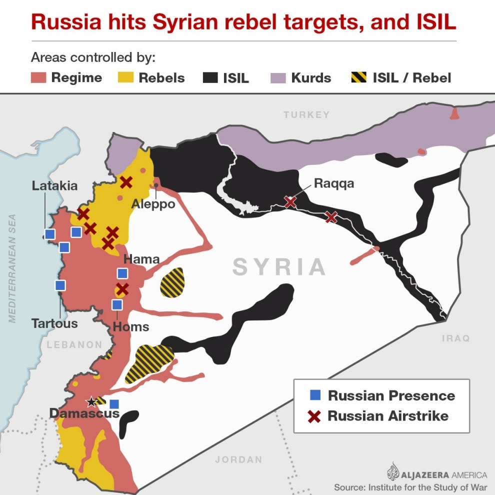 The risks of russias intervention in syria al jazeera america syria map gumiabroncs Image collections