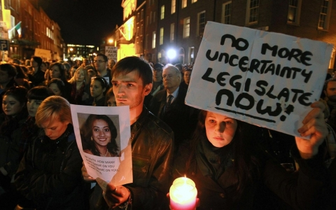 Savita Halappanavar, Dublin, Ireland, Eighth Amendment, abortion