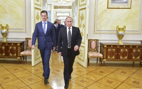 Thumbnail image for Syria's Assad makes surprise trip to Moscow to talk war plans with Putin