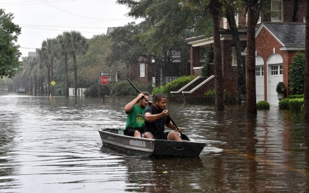 Torrential rainfall in North, South Carolina leaves at least 12 dead
