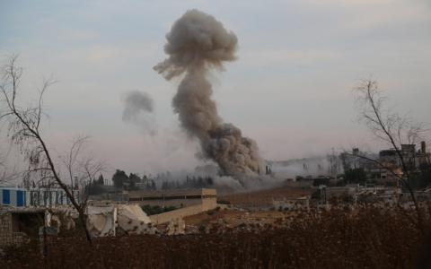 Thumbnail image for Russian airstrikes, Syrian army target rebels in Syria