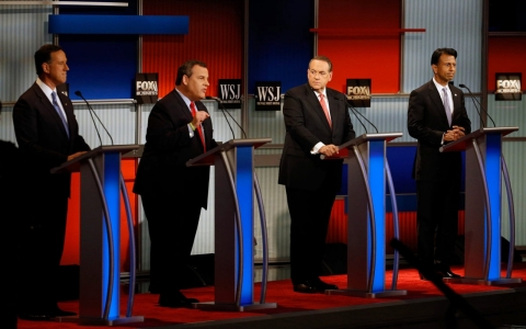 Thumbnail image for At the GOP undercard debate, the focus was on defeating Clinton