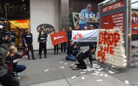 Thumbnail image for MSF protests price of Pfizer pneumonia vaccine