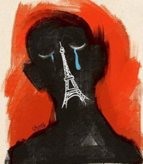 Hadi Heidari Paris cartoon