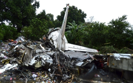 Cargo plane crashes in South Sudan, killing dozens on board, ground