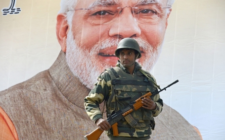 Security tightened sharply in Kashmir ahead of Modi visit