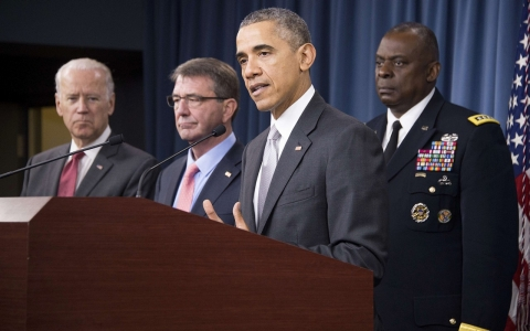 Thumbnail image for Obama says US hitting ISIL 'harder than ever' in bid to reassure public