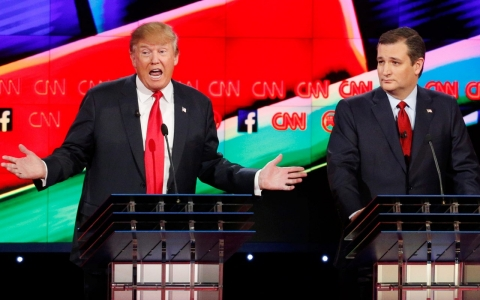 Thumbnail image for Cruz, Rubio clash in GOP debate as Trump defends call to ban Muslims