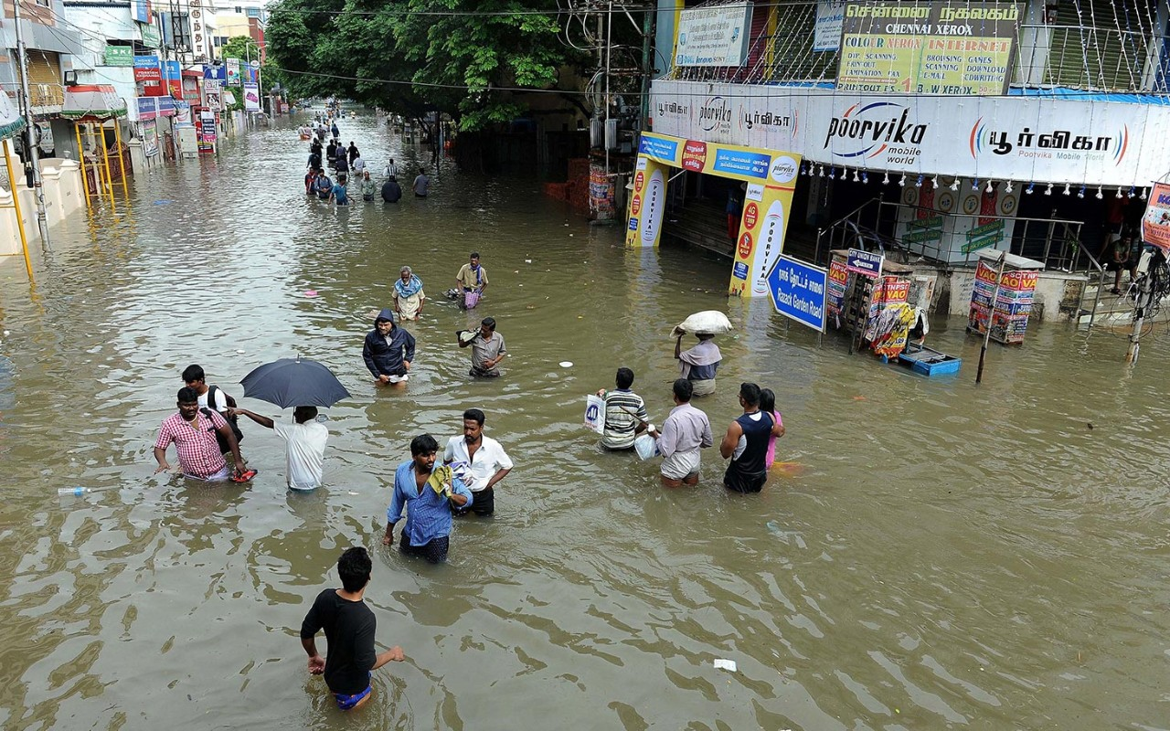 india flood Recent flooding in chennai will cost india's economy an estimated $3 billion in losses, making it the worst disaster of its kind this year in terms of damage to the economy, according to uk reinsurance broker aon benfield.