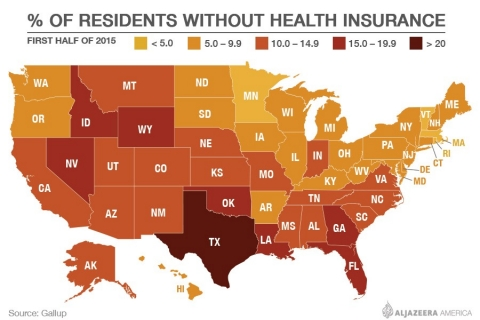 Health insurance map