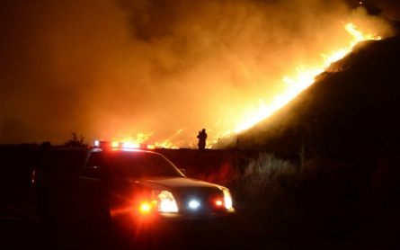 Southern California wildfire closes major highway