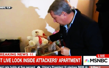 TV broadcast from home of alleged San Bernardino attackers provokes shock