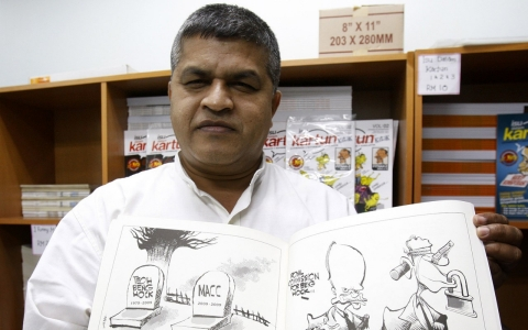Thumbnail image for Malaysia arrests popular local cartoonist over a tweet
