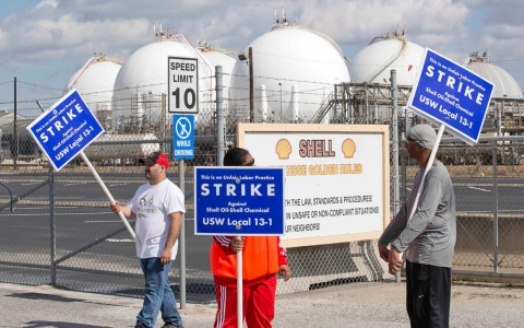 Thumbnail image for US oil workers strike over pay, benefits and safety