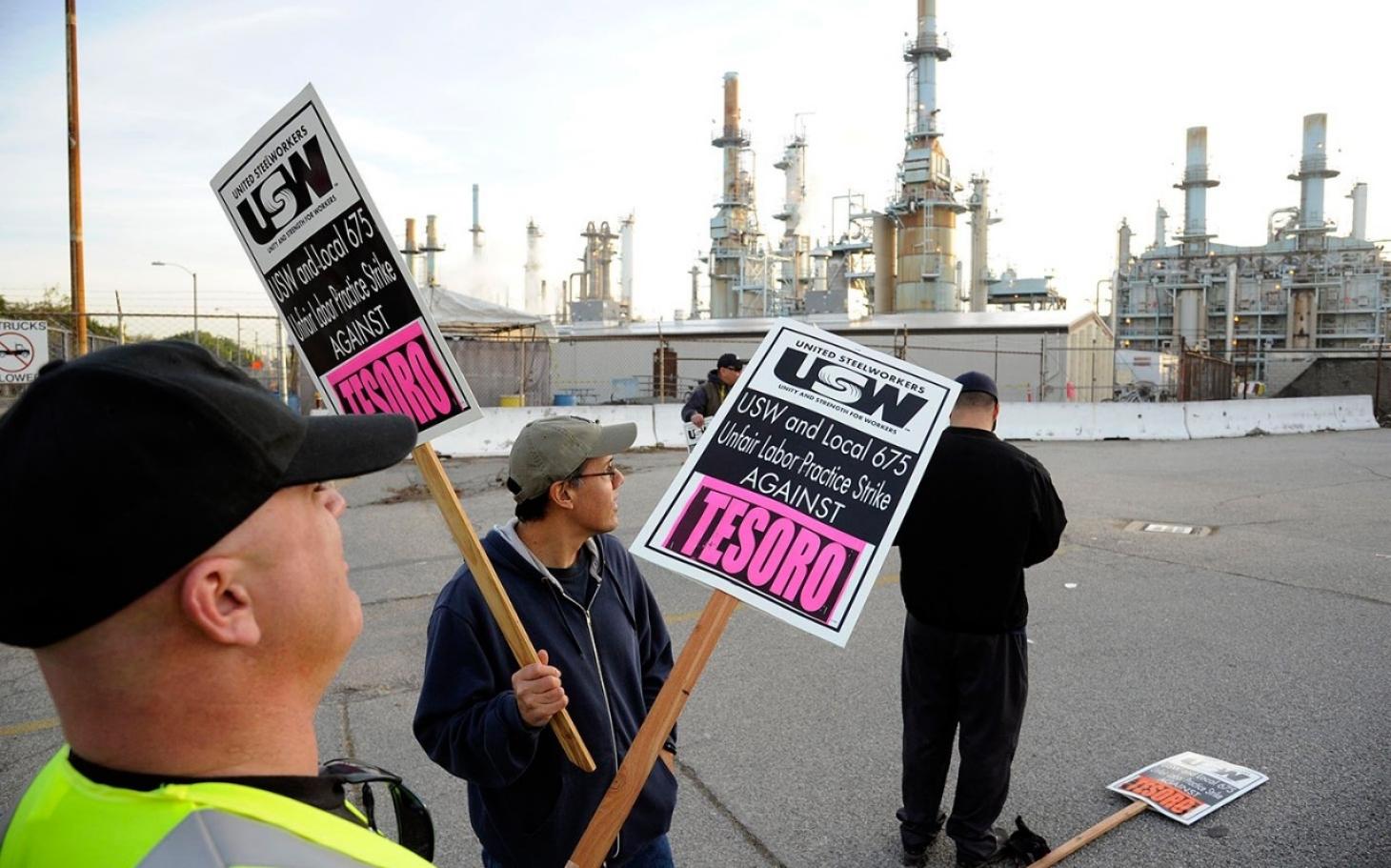 Workers Strike at California Oil Refinery | Al Jazeera America