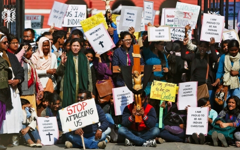 Thumbnail image for Hundreds of Indian Christians arrested during protest over church attacks