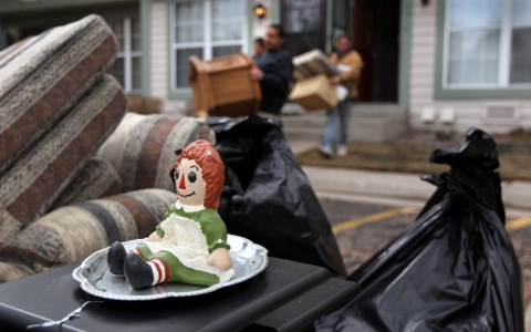 Thumbnail image for Homeless dragged down by belongings, as cities view keepsakes 'trash'