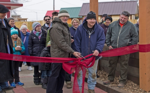 Thumbnail image for Tiny house village built by and for the homeless opens in Wisconsin