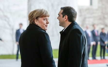 Merkel and Tsipras meet, but little sign of debt progress
