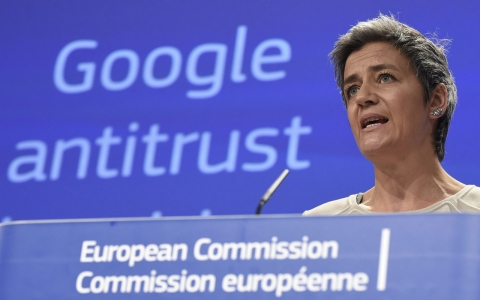 Thumbnail image for EU slaps antitrust charges on Google over Internet search shopping results