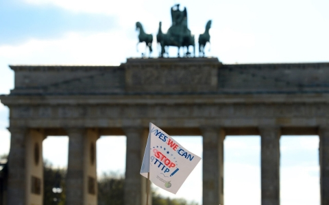 Thousands in Germany protest against Europe-US trade deal