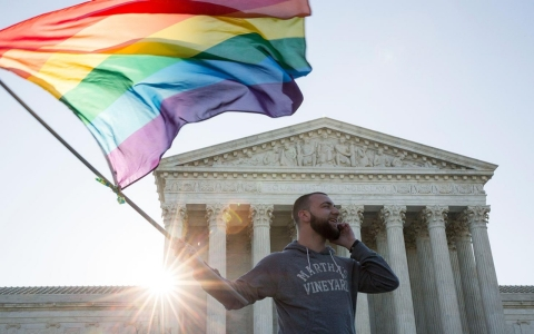 Thumbnail image for 'I didn't think I'd live to see this': Joy over SCOTUS gay marriage debate
