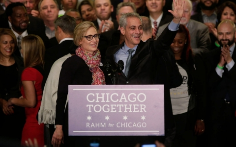 Thumbnail image for Chicago Mayor Rahm Emanuel wins second term in runoff victory