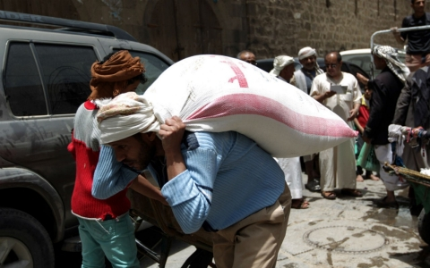 Thumbnail image for Boat carrying medical aid arrives in Yemen's port of Aden