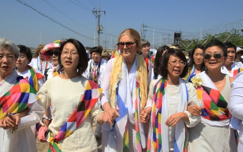 Thumbnail image for Women peace activists cross North-South Korea border