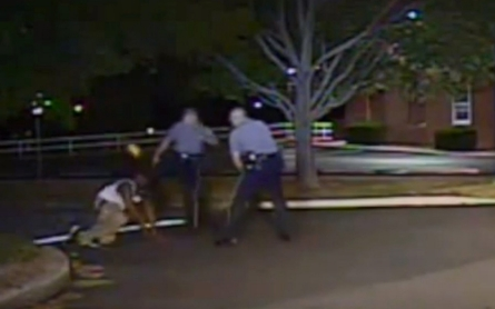 Police release dashcam video showing officer kicking man in face