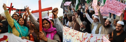 Protests for and against Aasia Bibi