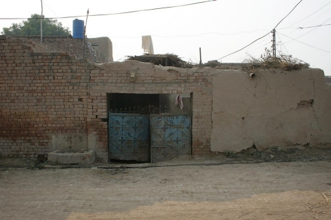 The exterior of the Aasia Bibi's house in the village of Ittan Wali in Pakistan's Punjab province, Nov. 13, 2010.
