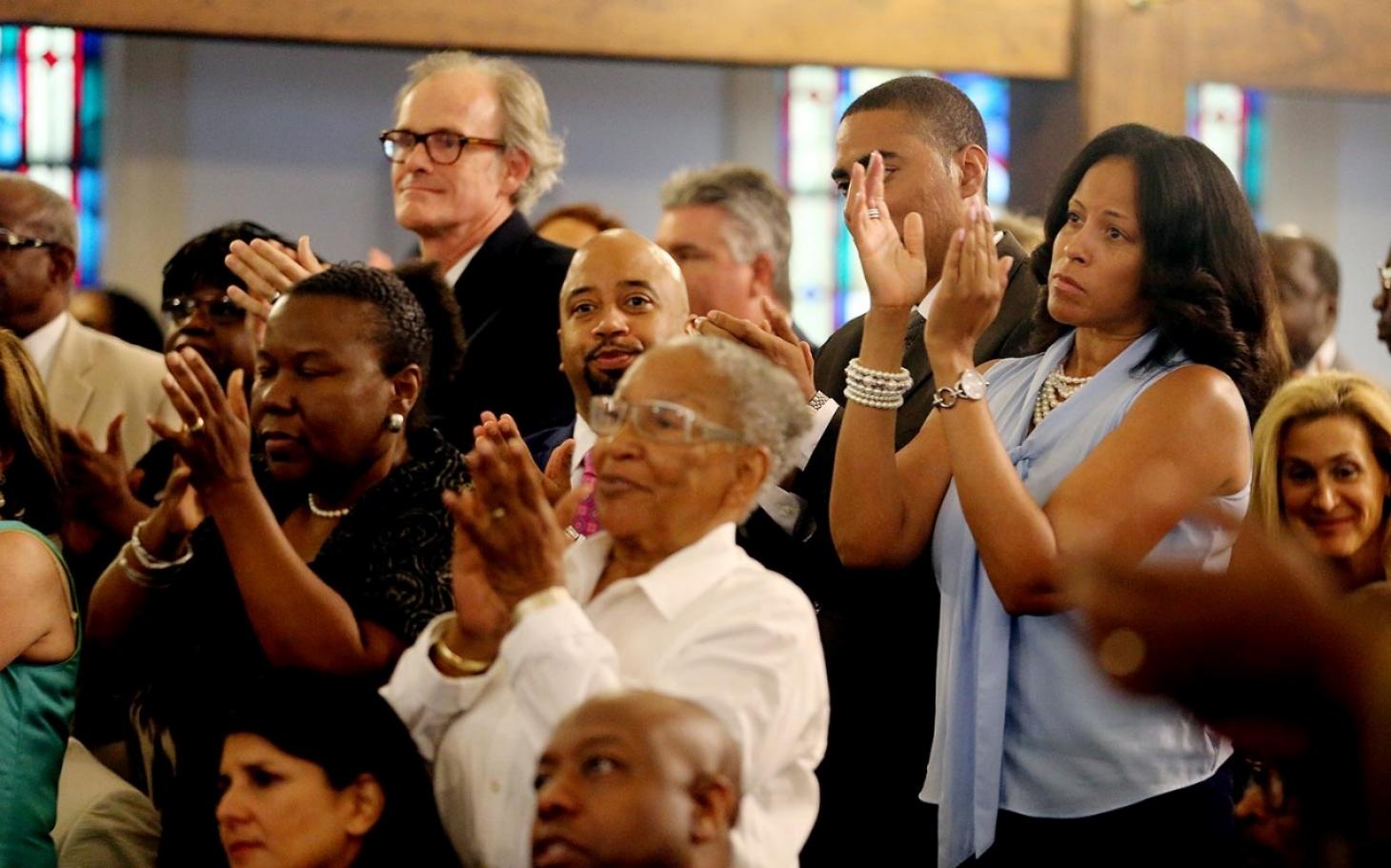 Black people in church