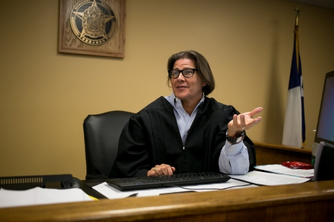 Judge John Bull, the maverick behind San Antonio's reform, sees many truancy cases and participates in the truancy program.